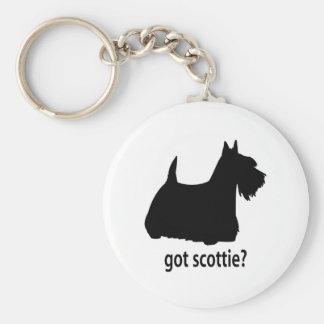 Got Scottish Terrier Basic Round Button Key Ring