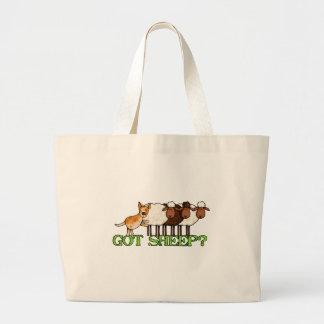 got sheep large tote bag