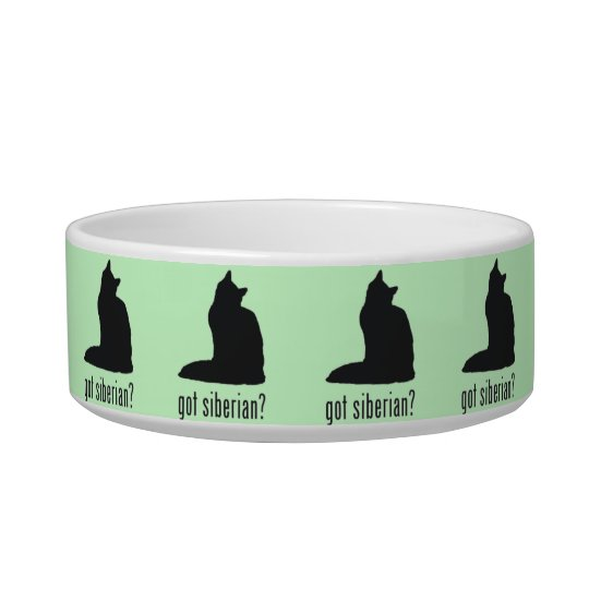 Got Siberian? Cat Food or Water Bowl