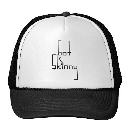 Got Skinny Diet Humor Mesh Hat