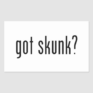 got skunk? rectangular sticker