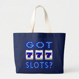 GOT SLOTS ? LARGE TOTE BAG