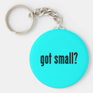 got small? basic round button key ring