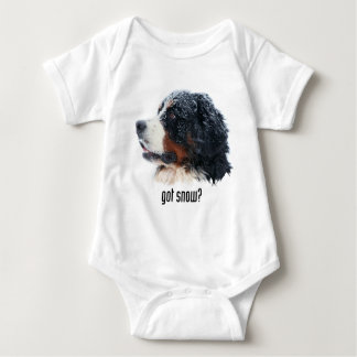 got snow? Bernese Mountain Dog Baby Bodysuit