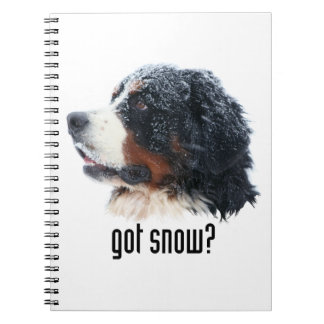got snow? Bernese Mountain Dog Notebook
