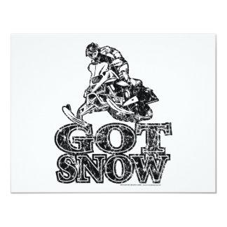 Got-Snow-Distressed 11 Cm X 14 Cm Invitation Card