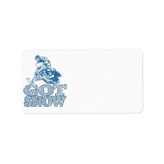 Got-Snow-Distressed-GreyBlu Address Label