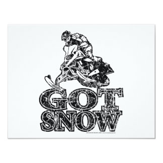 Got-Snow-Distressed Personalized Announcements