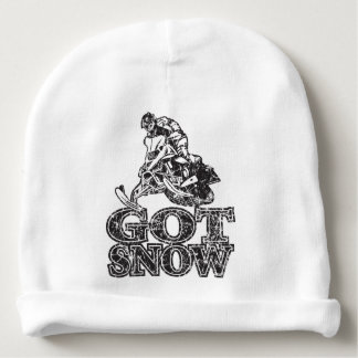 Got Snow Snowmobiler Baby Beanie