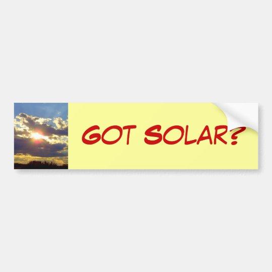 Got Solar Bumper Sticker