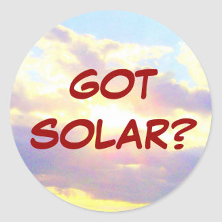 GOT SOLAR? sticker