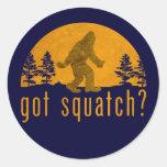 Got Squatch? Vintage Classic Round Sticker