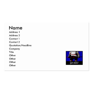 Got Stick - Ice Hockey Player Double-Sided Standard Business Cards (Pack Of 100)