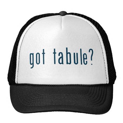 got tabule trucker hat