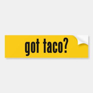 got taco? bumper sticker