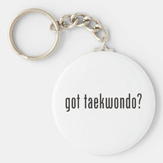 got taekwondo? basic round button key ring