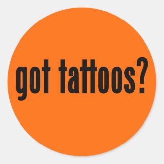 got tattoos? classic round sticker