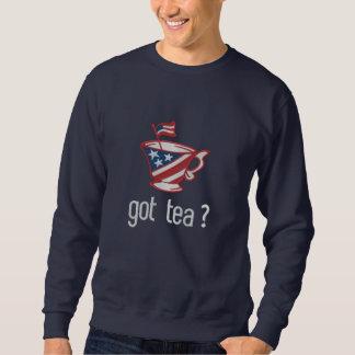 got tea? Tea Party Slogan Embroidered Sweatshirt