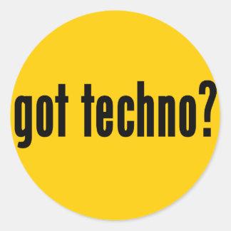got techno? classic round sticker