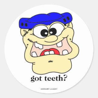 got teeth stickers