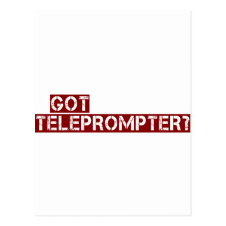 got teleprompter postcard