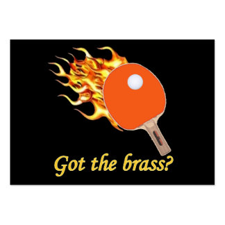 Got The Brass Flaming Ping Pong Pack Of Chubby Business Cards