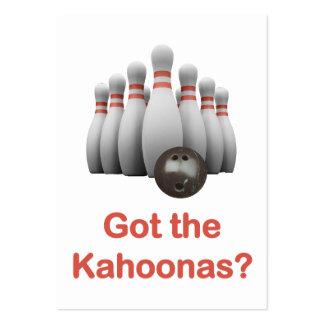 Got the Kahoonas Bowling Business Card Template