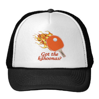 Got The Kahoonas Flaming Ping Pong Trucker Hats