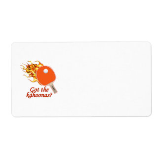 Got The Kahoonas Flaming Ping Pong Shipping Label