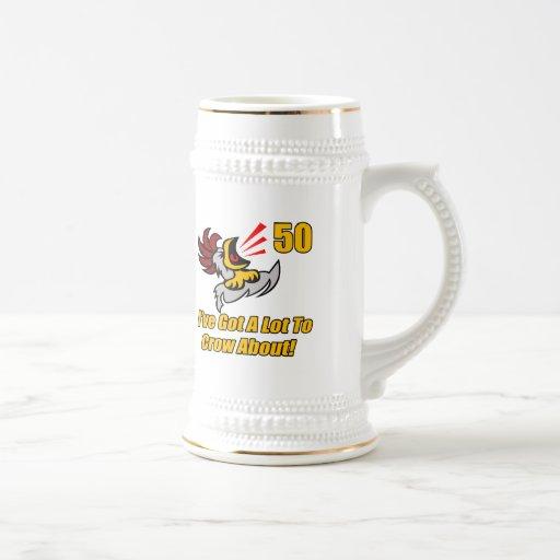 Got To Crow 50th Birthday Gifts Mug