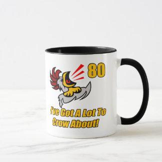 Got To Crow 80th Birthday Gifts Mug