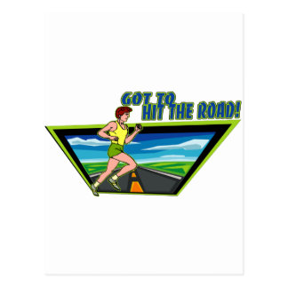 GOT TO HIT THE ROAD - RUNNING POSTCARD