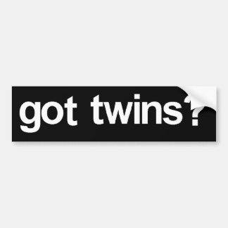 """Got Twins?"" Bumper Sticker"