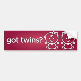 Got Twins? Girl Girl Twin Bumper Sticker