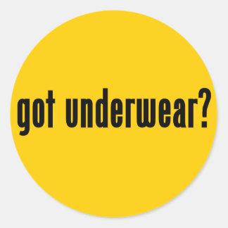 got underwear stickers