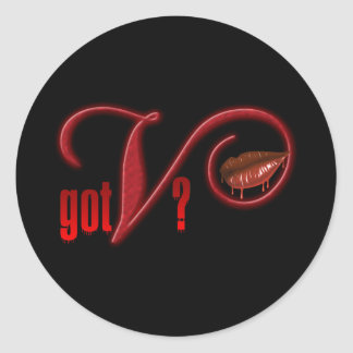 Got V - Vampire Blood Classic Round Sticker