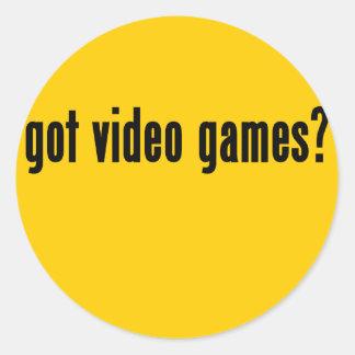got video games? classic round sticker
