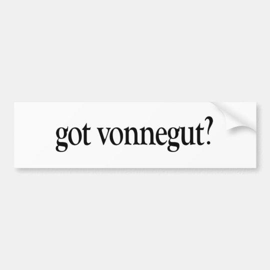 Got Vonnegut Bumper Sticker