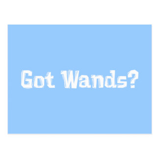 Got Wands Gifts Postcard