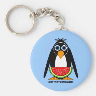 got watermelon basic round button key ring