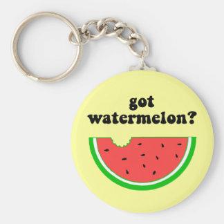 Got watermelon? basic round button key ring