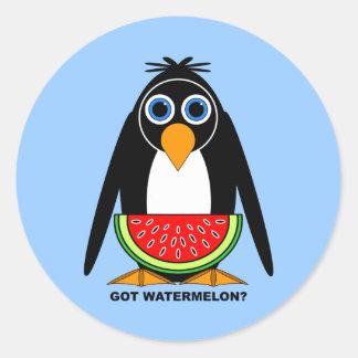 got watermelon round sticker