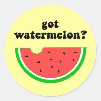 Got watermelon? round sticker