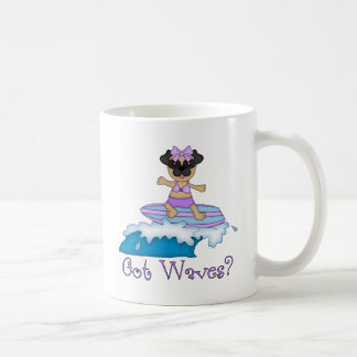 Got Waves? Pug Surfing Gifts and Tees Basic White Mug