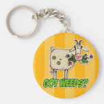got weeds goat basic round button key ring