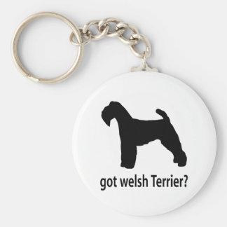 Got Welsh Terrier Basic Round Button Key Ring