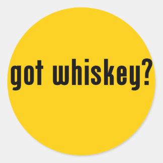 got whiskey? round sticker