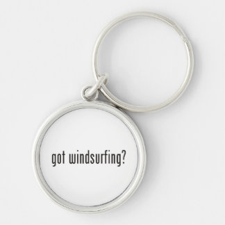 got windsurfing? Silver-Colored round key ring