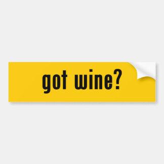 got wine? car bumper sticker