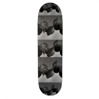 GOT WINGS BLACK FEATHER SKATEBOARD